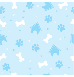 pattern for pets puppy vector image vector image