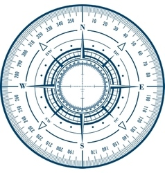 Radar compass rose vector image