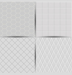 set of abstract seamless tiles background vector image
