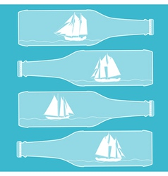 Ships in bottles vector