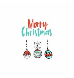 Simple christmas card vector