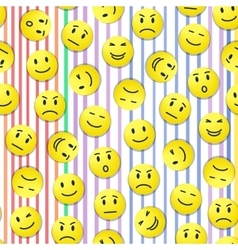 Smiley pattern vector image