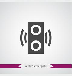 speaker icon simple vector image vector image