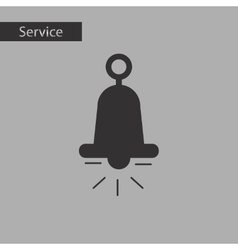 Black and white style bell ringer vector