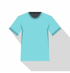 Men tennis t-shirt icon flat style vector