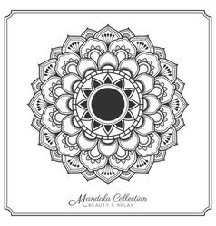 Mandala-82mandala decorative ornament design vector image