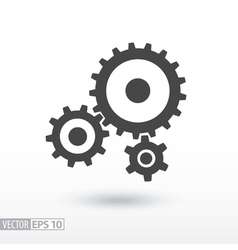 Gear flat icon sign gears logo for web design vector