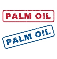 Palm oil rubber stamps vector