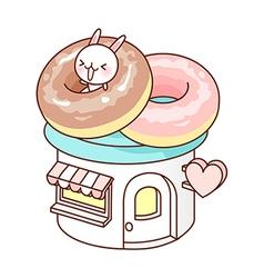 A doughnut shop vector image