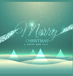 Magical merry christmas greeting card design with vector