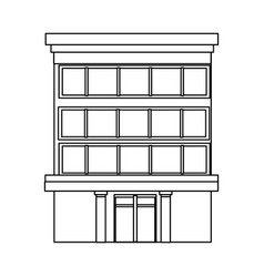Business building center facade office exterior vector