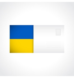 Envelope with ukrainian flag card vector