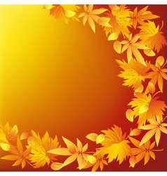 Abstract nature yellow background with leaf fall vector