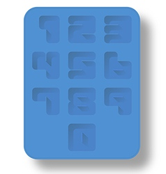 Ice tray number vector
