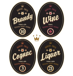 Alcohol label vector