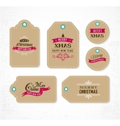 Christmas sale gift tags and lables vector