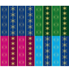Set of 4 seamless christmas textures vector