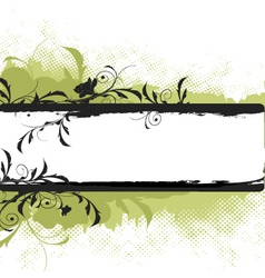 Floral banner graphic vector