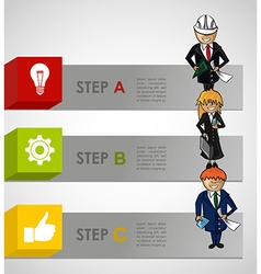 Business steps concept infographic work plan vector