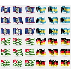 Belize bahamas abkhazia germany set of 36 flags of vector