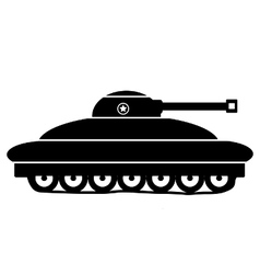Panzer icon on white vector