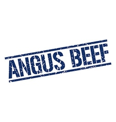Angus beef stamp vector