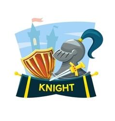 Knight concept design vector image