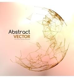 Abstract colorful sphere Futuristic techno vector image