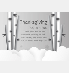 background for happy thanksgiving in paper cut vector image vector image