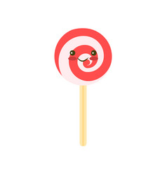 candy stick icon flat of candy stick vector image