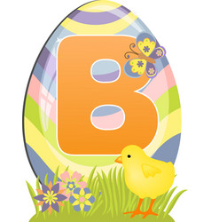 Cute initial letter B vector image