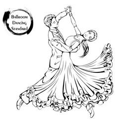 Dance line ballroom dancing standard vector