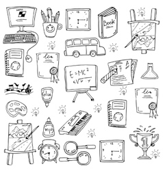 Education element for kids in doodle vector