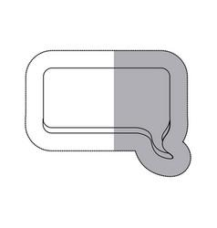 figure squard chat bubble icon vector image