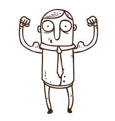 Hand drawn muscly man vector