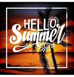 Hello Summer Beach Party Flyer vector image