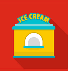 Ice creme trade icon flat style vector