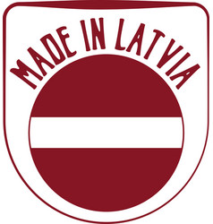 Made in latvia sign vector