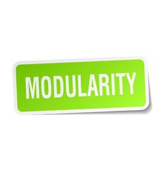 Modularity square sticker on white vector