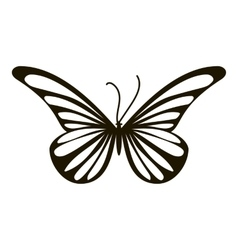 Moth butterfly icon simple style vector
