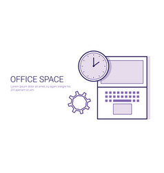 Office space business concept coworking center vector