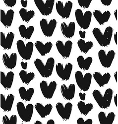 painted heart pattern vector image