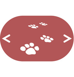 Paw prints icon vector