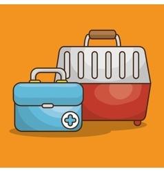 Pet box transport icon vector