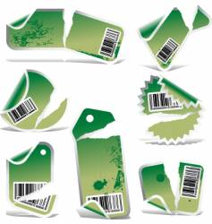 Ripped label vector