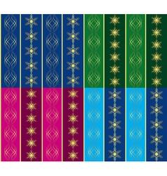 set of 4 seamless christmas textures vector image