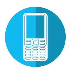 smartphone mobile technology retro image vector image