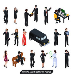 special agent isometric people vector image