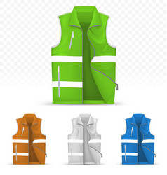 Unisex reflective vest isolated on transparent vector