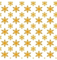 Yellow snowflakes for Christmas vector image